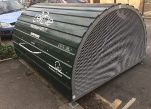 A bike hangar in the London borough of Waltham Forest